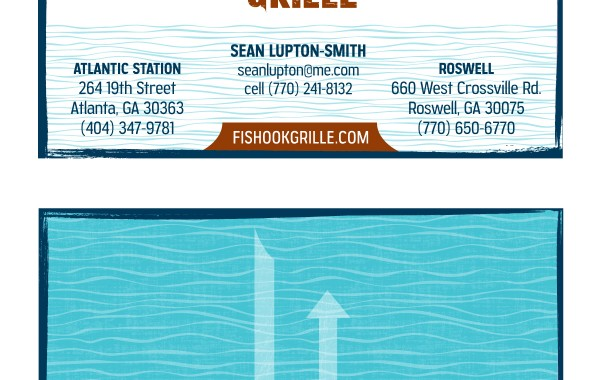 Fishook Grille Business Card