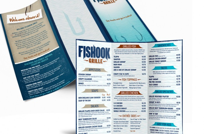 Fishook Menu Design