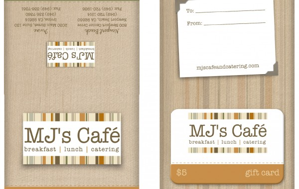 MJs Gift Card Packet