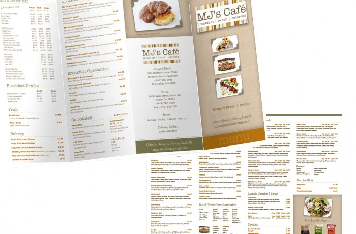 MJs Menu Design