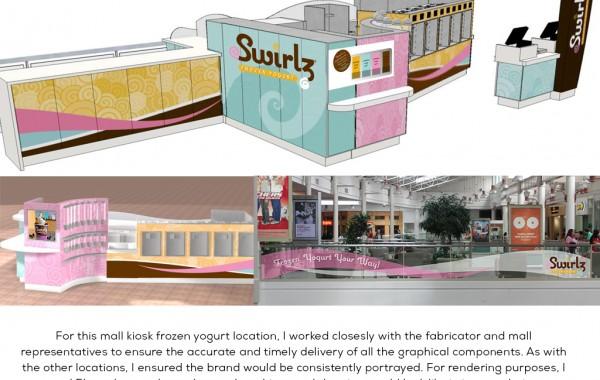 Swirlz Mall Kiosk Design