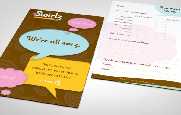 Swirlz Suggestion Card