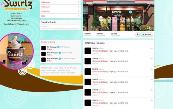 Swirlz Twitter Page