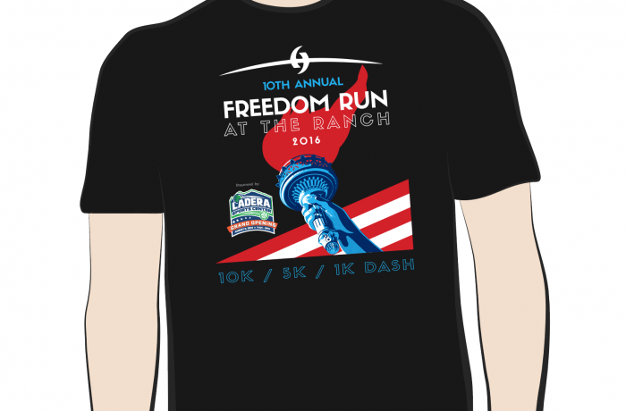 2016 Freedom Run Tee Design