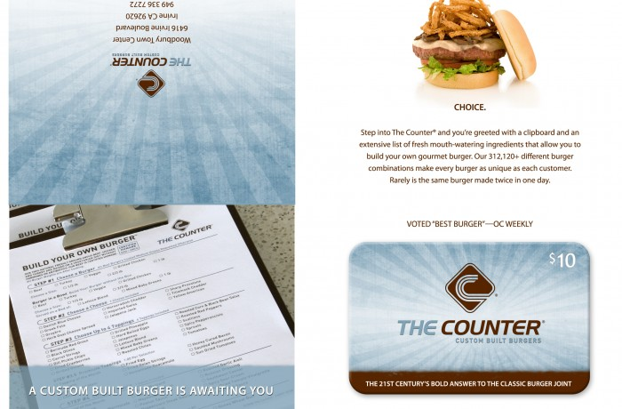 The Counter Gift Card Packet