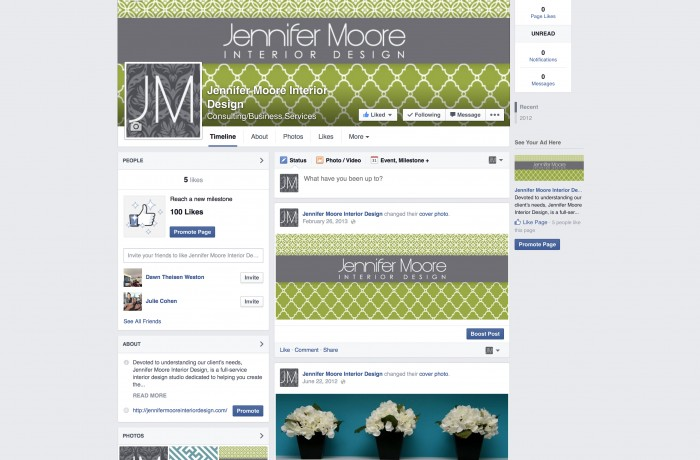 Jenny Moore Interior Design Facebook Page