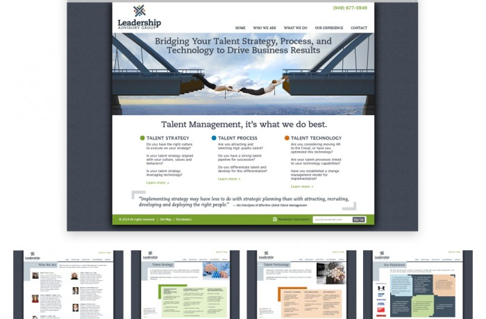 Leadership Website Portfolio