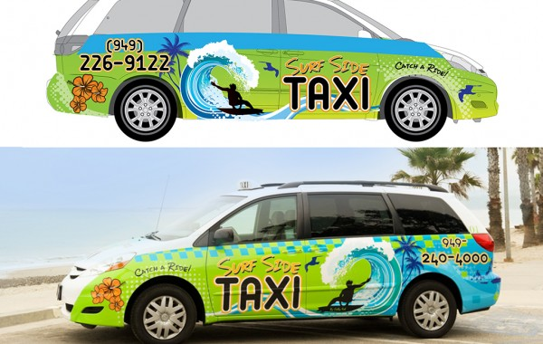 Surfside Taxi Van Art