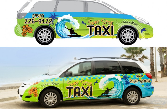 Surfside Taxi Van Art